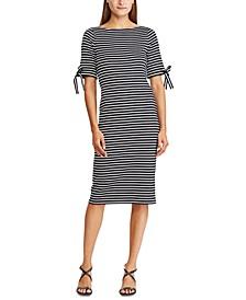 Boatneck Striped Dress