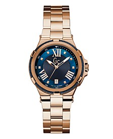 Gc Women's Structura Cable Gold-Tone Stainless Steel Bracelet Watch 36mm