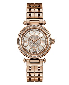 Gc Women's Prime Chic Rose-Gold Stainless Steel Bracelet Watch 36.5mm