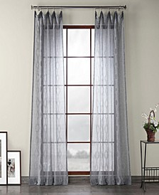 Exclusive Fabrics Furnishings Patterned Linen Sheer Curtain Curtain Panel