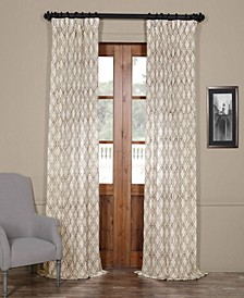 Said Embroidered Sheer Curtain Panel