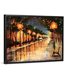 "40 in. x 30 in. ""Halos In The Rain"" by  Farrell Douglass Canvas Wall Art"