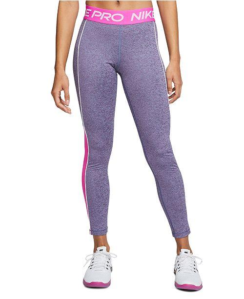 Nike Women's Pro Dri-FIT Mesh-Trimmed Leggings