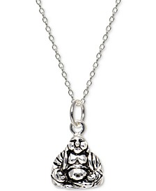 "Buddha 18"" Pendant Necklace in Sterling Silver, Created For Macy's"