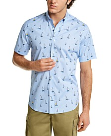 Men's Velero Print Oxford Shirt, Created for Macy's