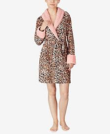 Ellen Tracy Sweater Knit Short Robe, Online Only