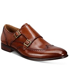 Men's Eli Wingtip Monk Strap Shoes, Created for Macy's