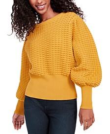 Mozart Cotton Popcorn-Knit Sweater