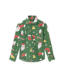 Toddler Boys Santa boss Christmas Shirt