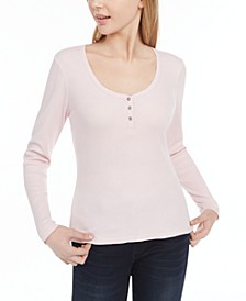 Juniors' Scallop-Edge Henley