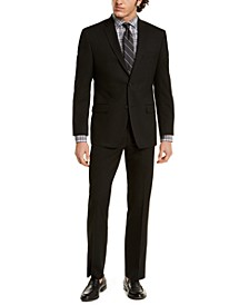 by Andrew Marc Men's Modern-Fit Solid Black Suit