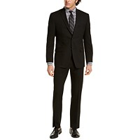 Macys deals on Marc New York by Andrew Marc Mens Modern-Fit Solid Black Suit