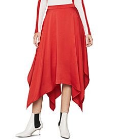 BCBGMAXAZRIA Handkerchief-Hem Midi Skirt