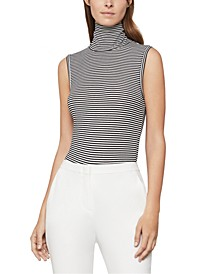 Striped Turtleneck Bodysuit