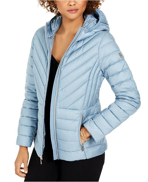 Michael Kors Hooded Packable Down Puffer Coat