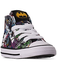 Toddler Boys Chuck Taylor All Star DC Comics Batman High Top Casual Sneakers from Finish Line