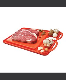 S Non-Slip Right Side Removable Compartments Cutting Board and Serving Tray