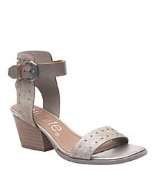 Amabel Double Strap Low-Heeled Sandal