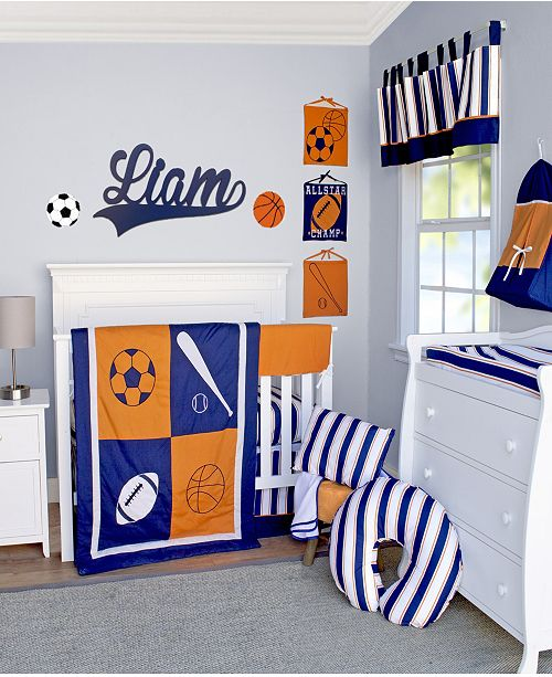 Pam Grace Creations Vintage Like Sports 13 Piece Crib Bedding Set