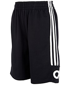 Big Boys Cotton French Terry 3-Stripe Shorts