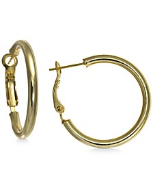 "Small Polished Hoop Earrings in 18k Gold-Plated Sterling Silver, 1"", Created For Macy's"
