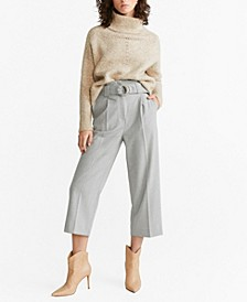 Belted Straight-Fit Trousers