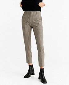 Check Cropped Trouser