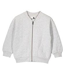 Little, Big and Toddler Girl's Marin Bomber Zip Through Jacket