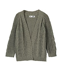 Little, Big and Toddler Girl's Fleur Cardigan Knitwear Jacket