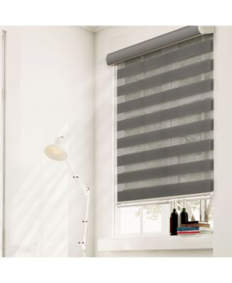 Cordless Zebra Shades, Dual Layer Combi Window Blind, 46