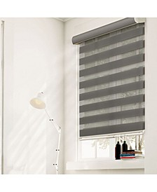 Cordless Zebra Shades, Dual Layer Combi Window Blind
