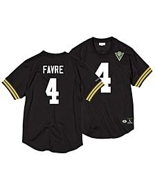 Men's Brett Favre Green Bay Packers Name & Number Mesh Crewneck Top