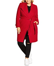 Trendy Plus Size So Chic Belted Coat