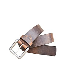 Men's Pointer Distressed Crazy Horse Leather Casual Work Jean Belt