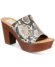 Henna Platform Clog Sandals