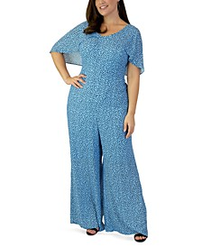 Plus Size Printed Jumpsuit