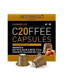 Coffee Caramello Flavor 120 Capsules per Pack for Nespresso Original Machine