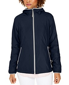 Faux-Fur-Lined Hooded Water-Resistant Jacket