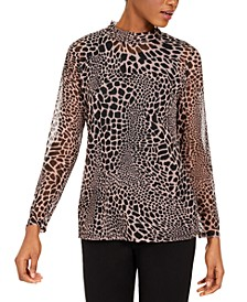 Printed Mesh Top, Created For Macy's
