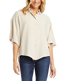 Relaxed Button-Up Shirt