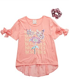 Big Girls 2-Pc. Best Vibes Top & Scrunchie Set
