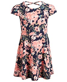 Little Girls Floral-Print Dress, Created For Macy's