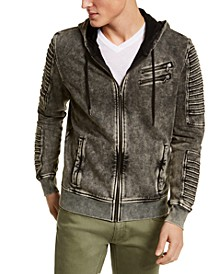 INC Men's Big & Tall Zip-Front Moto Hoodie, Created for Macy's