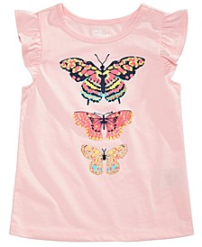 Little Girls Tiered Butterfly T-Shirt, Created For Macy's