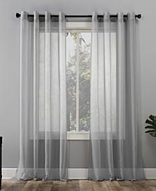 "Sheer Voile 59"" x 95"" Grommet Top Curtain Panel"