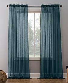 """Crushed Sheer Voile 51"""" x 63"""" Curtain Panel"""