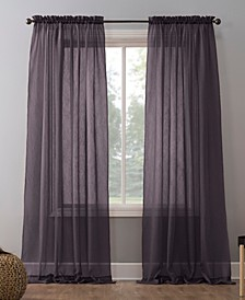 """Crushed Sheer Voile 51"""" x 84"""" Curtain Panel"""