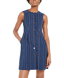 Nanette Lepore Striped Denim Sheath Dress
