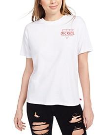 Junior's Cotton Logo-Graphic T-Shirt