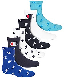 Little & Big Boys 6-Pk. Logo Low-Cut Socks